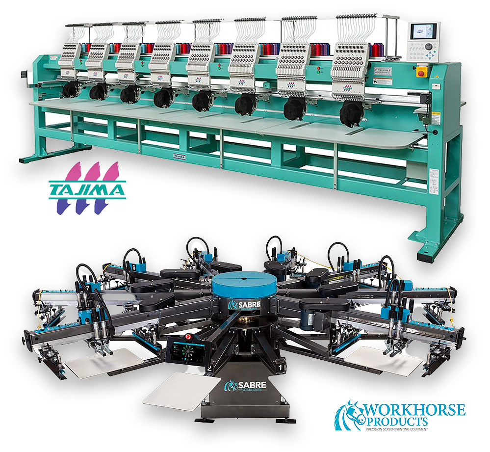 high quality embroidery and screen printing equipment